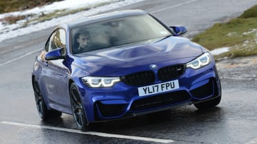 BMW M4 CS - front cornering