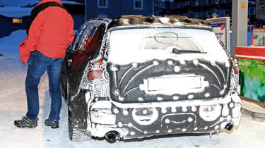 Volvo V60 spied - filling station rear