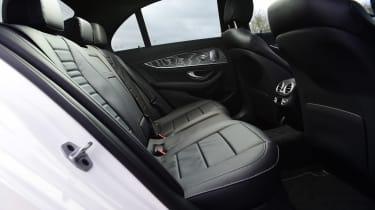 Mercedes E 300 e - rear seats