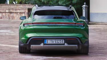 Porsche Taycan Cross Turismo - green full rear