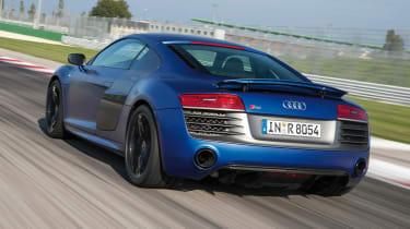 Audi R8 V10 Plus rear tracking