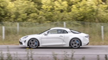Alpine A110 ride review - side