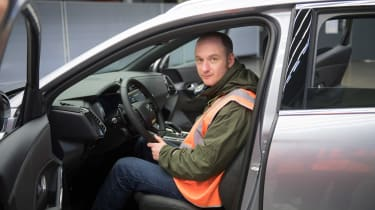 DS 7 Crossback - James Disdale in car