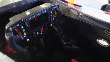 The interior ofJenson Button's 2015 F1 car.