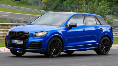Audi SQ2 spy shots - front cornering 3
