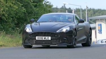 Aston Vanquish Zagato spyshots front