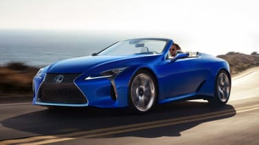 Lexus LC Convertible - front action