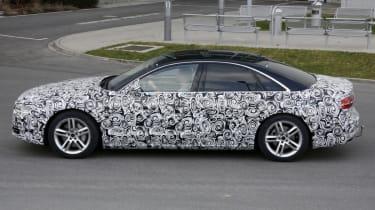 Audi A8 facelift profile