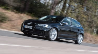 Audi RS3 group - front three quarter