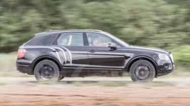 Bentley Bentayga prototype first drive - panning
