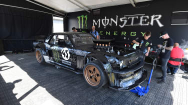 Ken Block's tyre-smoking Mustang will be at Goodwood.