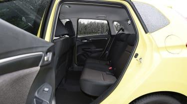 Honda Jazz yellow rear seats