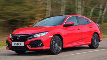 Honda Civic vs Volkswagen Golf vs Renault Megane - civic tracking