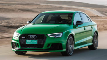 Audi RS3 Saloon 2017 - front tracking