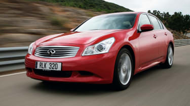 The Infiniti G saloon is a alternative to the BMW 3 series and the Audi A4.