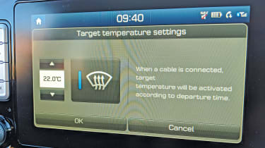 Hyundai Kona Electric long termer - pre-set heating