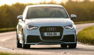 Audi A1 quattro front cornering