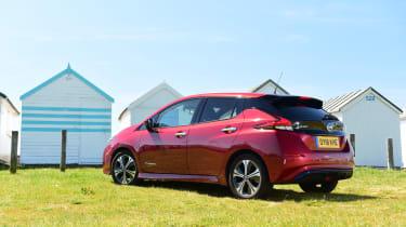 Nissan Leaf Long Termer beach rear
