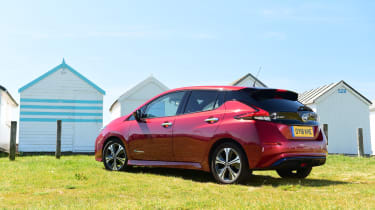 Nissan Leaf Long Termer beach rear