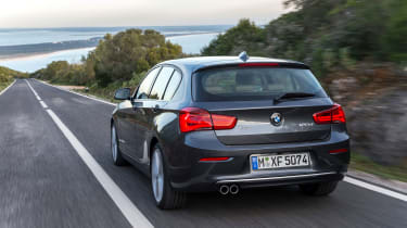 From the rear, the 1 Series gets a reshaped bumper and larger, i8-inspired tail-lights.