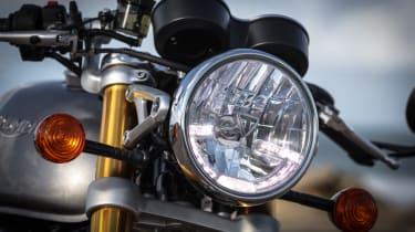 Triumph Thruxton R review - headlight