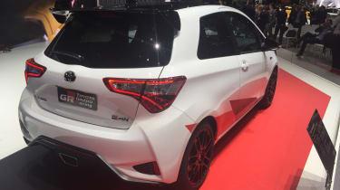 Toyota Yaris GRMN hot hatch 2017 - Geneva rear quarter