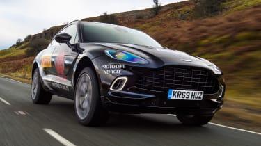 Aston Martin DBX prototype - front action