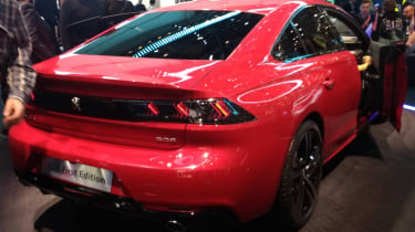 New Peugeot 508 rear red