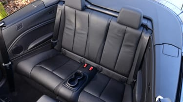 BMW 220d Convertible rear seats