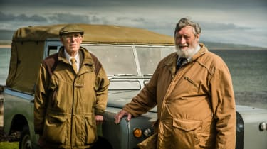 Nick Wilks and Duncan Fraser are both connected to Land Rover through their fathers. Spencer Wilks, the former boss ofthe Rover Company, had an estate on Islay, and he used an old Rover on jacked-up suspension to traverse his lan