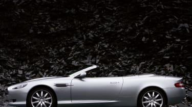 Aston Martin DB9 Volante convertible profile