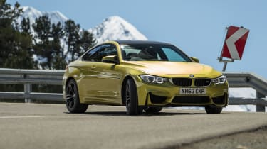 BMW M4 front cornering