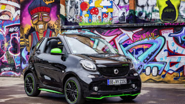 Smart ForTwo Cabrio Electric Drive - front static