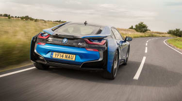 BMW i8 rear - Footballers' cars