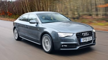 Audi A5 Sportback 2.0 TDI S line front tracking