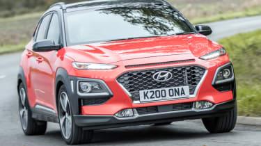 Hyundai Kona review - driver side front corner