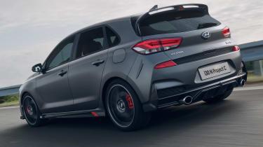 Hyundai i30 N Project C - rear cornering