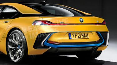 BMW i5 2021 render - rear close
