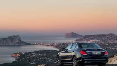 Mercedes C-Class 2014 black rear static