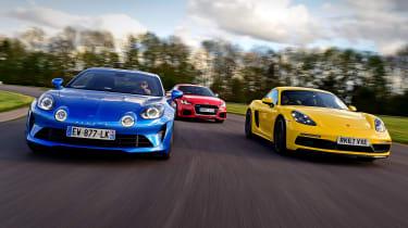 Alpine A110 vs Audi TT RS vs Porsche Cayman - header