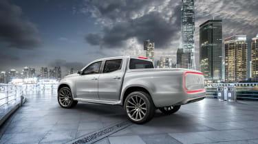 Mercedes X-Class concept - silver rear