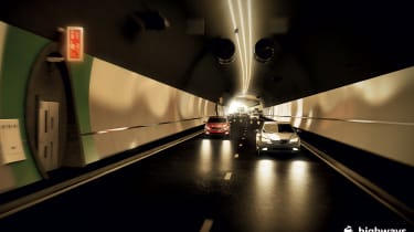 Stonehenge tunnel - inside