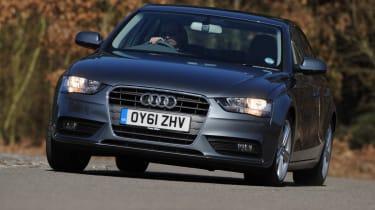 Audi A4 front cornering
