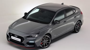 Hyundai i30 Fastback N - above front