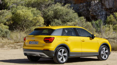 Audi Q2 Yellow side rear