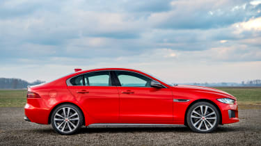 Jaguar XE and XF launched - side