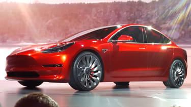 Tesla Model 3 launch red
