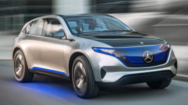 Mercedes EQ electric SUV - front tracking