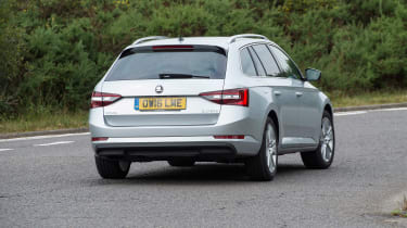 Skoda Superb Estate - rear cornering