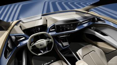 Audi Q4 e-tron concept - dash sketch